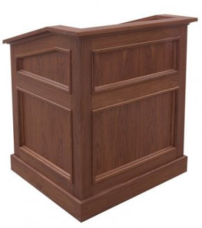 MLAQ-36 Antique Molding Style Lectern in Brown Walnut