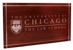 Laser Etched in Front Panel, Painted - University of Chicago Law School