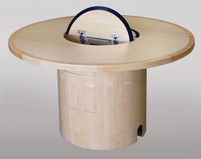 CTC 48 Custom Collaboration Table In Natural Maple   Open View