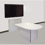MRTA-RC D Shaped Quick Ship Video Conference Collaboration Table and ELCO-MOC Ensemble