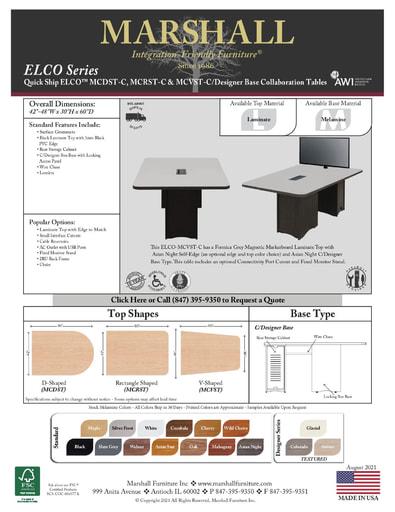 ELCO™ COLLAB Series C Designer Base Cutsheet