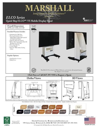ELCO™-VS Mobile Display Stand Cutsheet