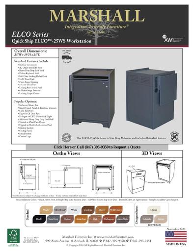 ELCO™-25WS Workstation Cutsheet