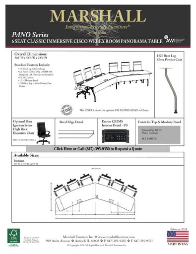 6 Seat Classic Immersive Cisco Table