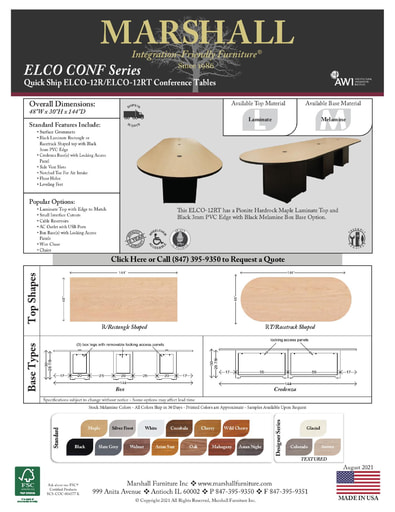 ELCO-12R/12RT Conference Tables