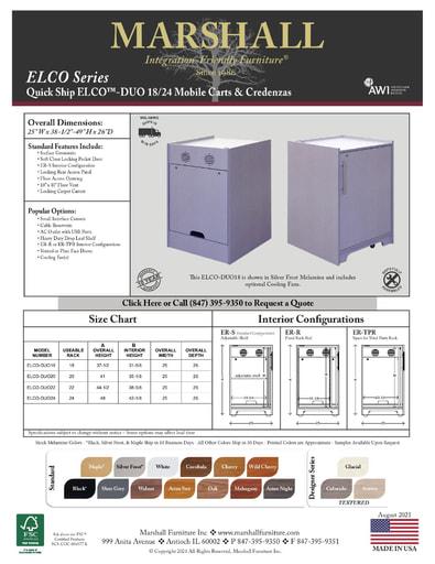 ELCO™-DUO 18/24 Mobile Carts & Credenzas Cutsheet