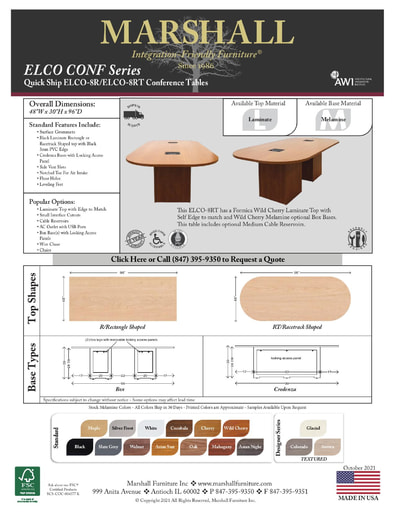 ELCO-8R/8RT Conference Tables
