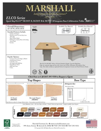 ELCO™ COLLAB Series B Integrator Base Cutsheet