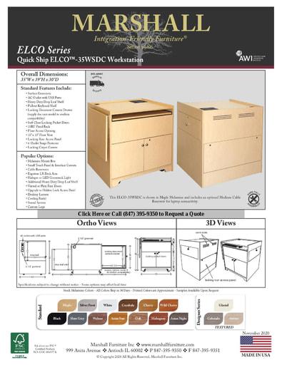 ELCO™-35WSDC Workstation Cutsheet