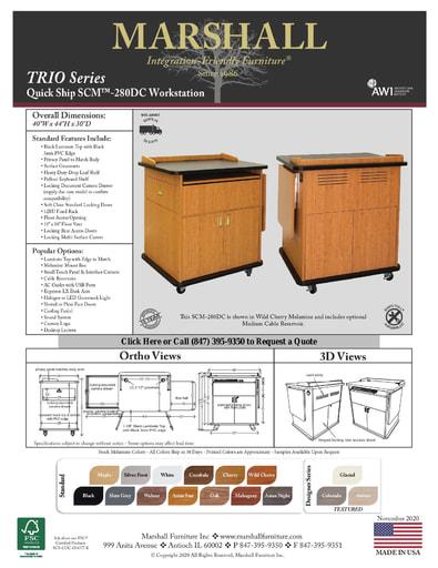 SCM™-280DC Workstation Cutsheet