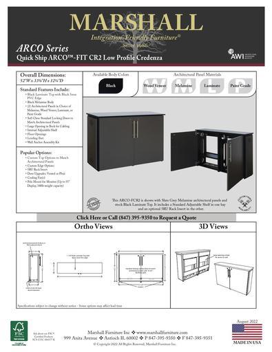 ARCO™-FIT CR2 Low Profile Credenza Cutsheet