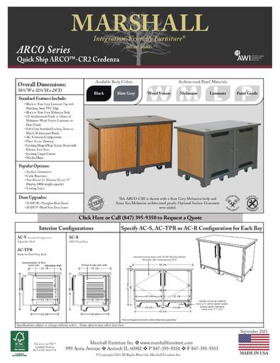 ARCO™-CR2 Credenza Cutsheet