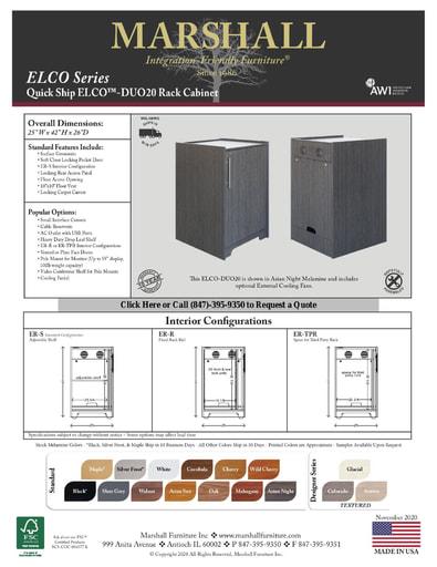 ELCO™-DUO20 Rack Cabinet Cutsheet