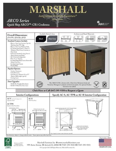 ARCO™-CR1 Credenza Cutsheet
