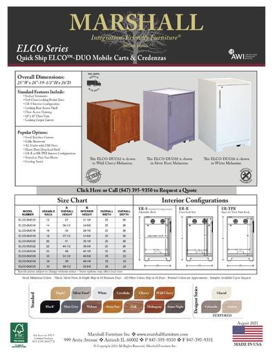 ELCO™-DUO Mobile Carts and Credenzas Cutsheet