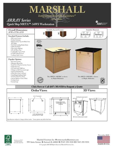 MRTA™-34WS Workstation Cutsheet
