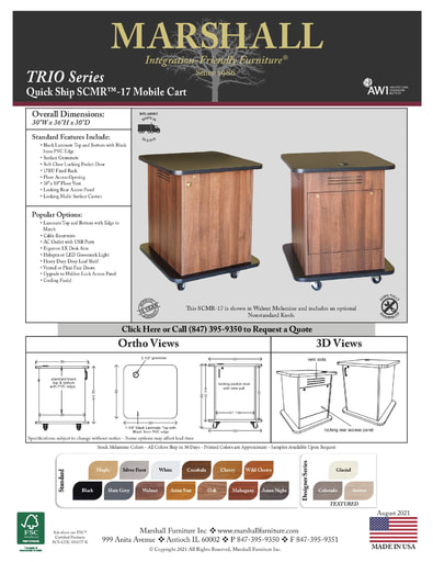 SCMR™-17 Mobile Cart Cutsheet