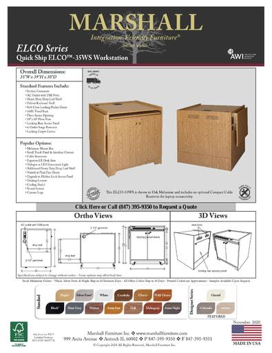 ELCO™-35WS Workstation Cutsheet