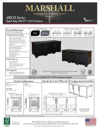 ARCO™-CR3 Credenza Cutsheet