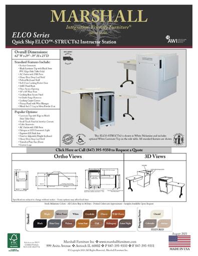 ELCO™-STRUCT62 Instructor Station Cutsheet