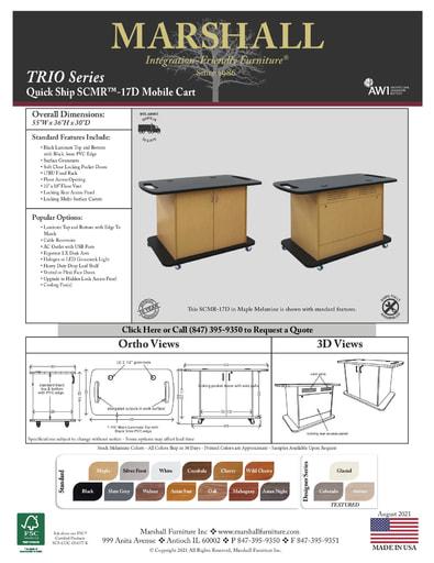 SCMR™-17D Mobile Cart Cutsheet