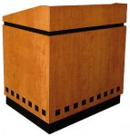 MLCD-40 Classic Deep Reveal Style Lectern in Cherry with Black Inlay