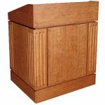 MLC Column Style Lectern in Cherry - Front View