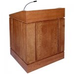 MLC Column Style Lectern in Natural Cherry - Front View