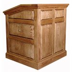 MRP Raised Panel Style Lectern in Oak