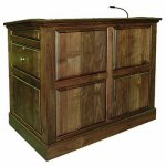 MRP Raised Panel Style Lectern in Walnut