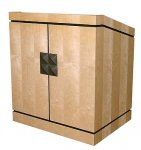 MLP-35 Prairie Style Lectern in Slip Matched Natural Birch