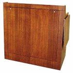 MLP-40 Prairie Style Lectern in Figured Mahogany - Front View