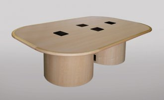 CTRT 60x96 Racetrack Table in Natural Maple