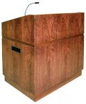 MLCS-40 Classic Style Lectern in Dark Brown Walnut