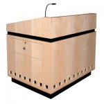 MLCD-42 Classic Deep Reveal Style Lectern in Natural Maple - Front View