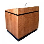MLCS-40 Classic Style Lectern in Cherry - Front View