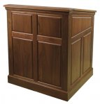 MRP-35 Raised Panel Style Lectern in Brown Walnut
