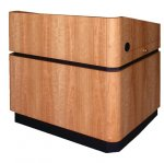 MLRD-45 Radius Deep Reveal Style Lectern in Natural Cherry - Front View