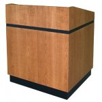 MLCS-35 Classic Style Lectern in Brown Cherry - Front View