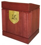 MLC-35 Column Style Lectern in Red Cherry - Front View
