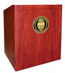 MLP-35 Prairie Style Lectern in Light Red Mahogany Finish