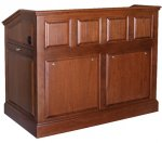 MRP-53 Raised Panel Style Lectern in Brown Cherry - Front View