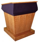 MPZ-36 Pennsylvania Avenue Style Lectern in Brown Cherry - Front View