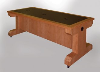 Training & Sectional Table with Angular Legs