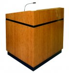 MLCS-35 Classic Style Lectern in Custom Bamboo - Front View