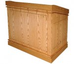 MLSM-45 Split Molding Style Lectern in Honey Oak - Front View
