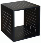 ELCO™ 10-RU Rack Box in Black Melamine
