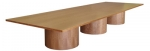 Rectangular Video Conference Table in Natural Cherry