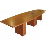 CTB 48x144 Boat-Shaped Table in Brown Mahogany