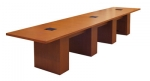 CTR 36x168 Rectangular Video Conference Table in Harvest Mahogany